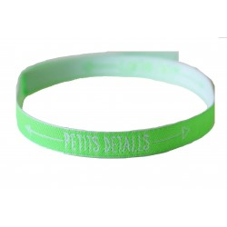 Pulsera Solidaria Verde Fluor