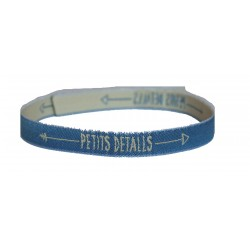 Pulsera Solidaria Azul Jeans
