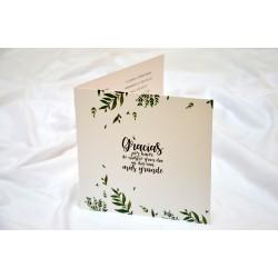Tarjetas regalo solidarias hojas